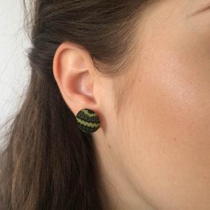 Zeleni konopljini uhani, uhani iz konoplje