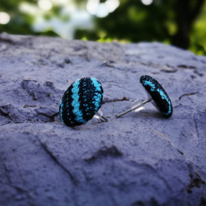 Modri konopljini uhani, uhani iz konoplje