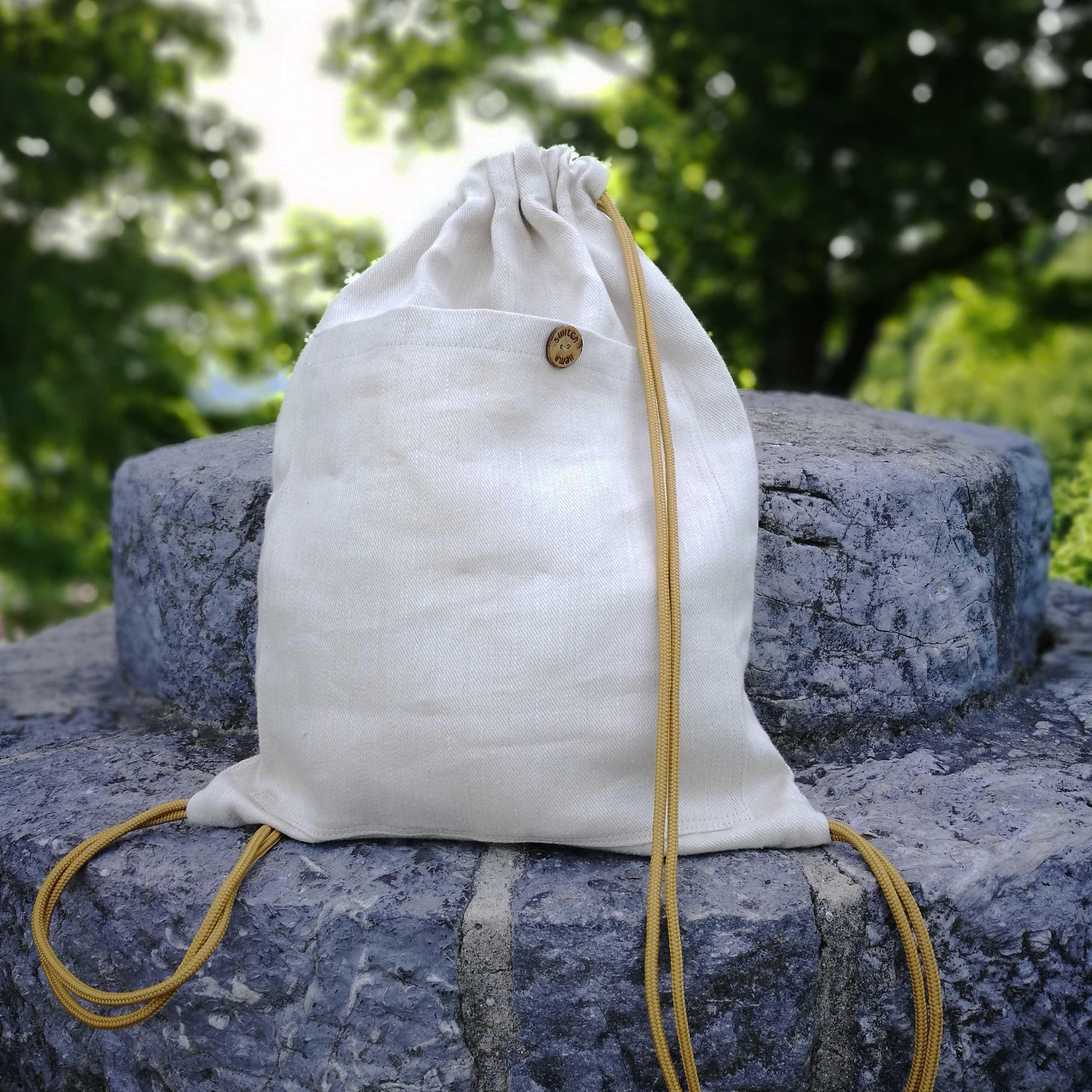 big hemp bag, hemp drawstring bag, hemp backpack